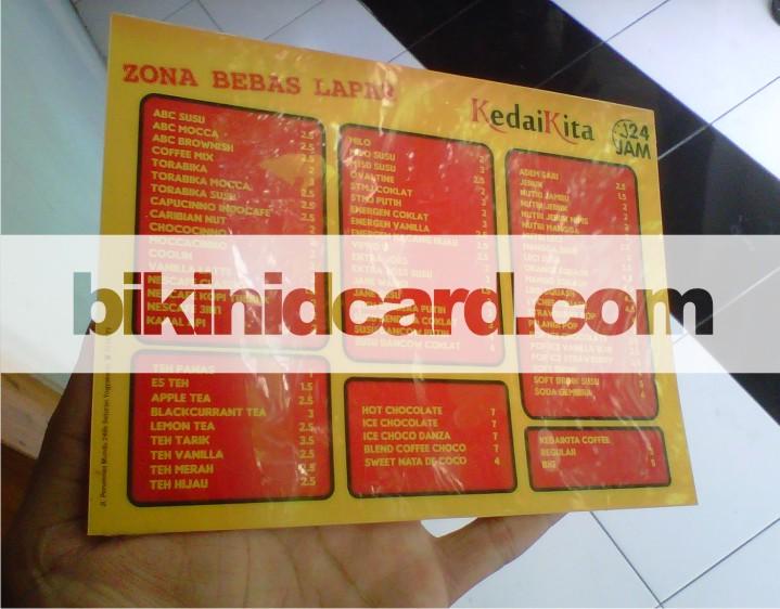 id card murah jogja - daftar menu
