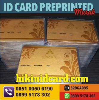 cetak ID CARD PREPRINTED