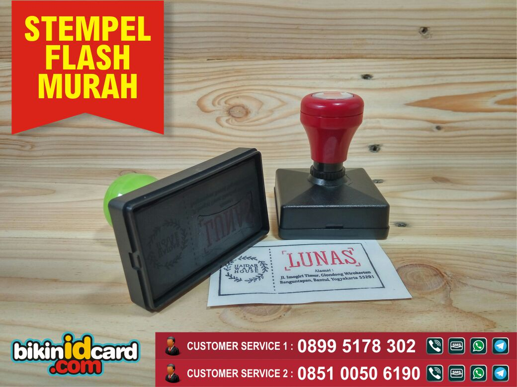 stempel flash murah
