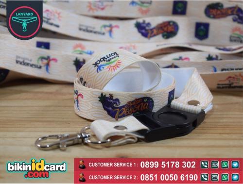 Harga cetak tali id card satuan murah - Contoh tali id card printing satuan