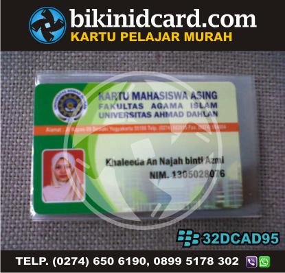 kartu pelajar murah - Contoh kartu pelajar asing UAD