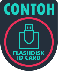 contoh flashdisk id card