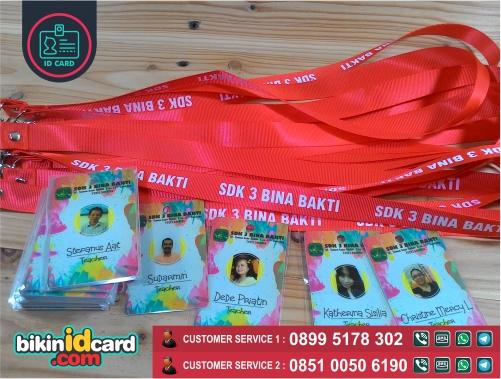 Harga cetak id card guru - Contoh id card guru dan tali id card