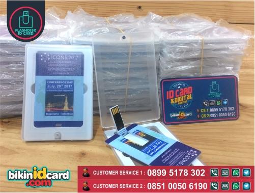 Harga souvenir flashdisk kartu murah online - Contoh cetak flashdisk kartu