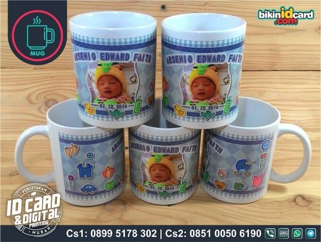 mug souvenir kelahiran anak