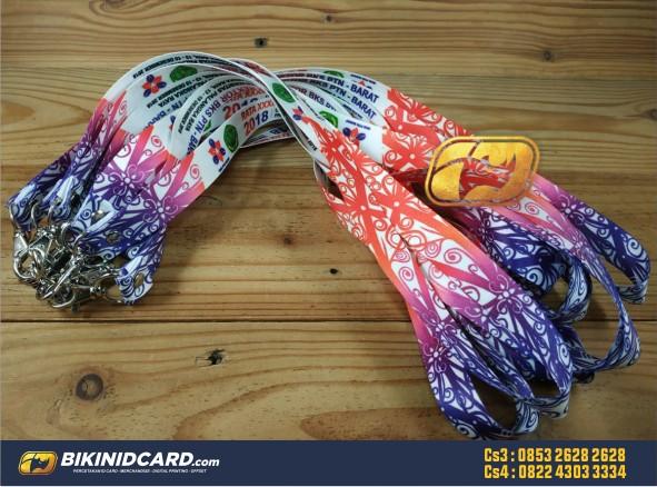tali gantungan id card bahan tisu