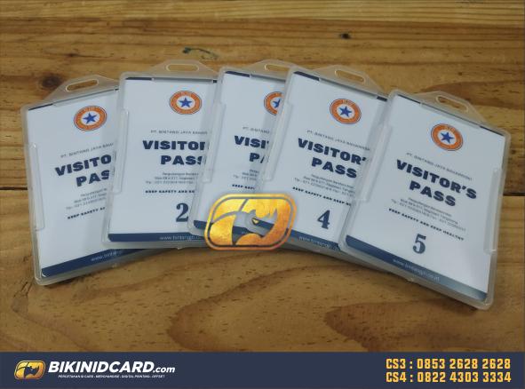contoh desain id card visitor