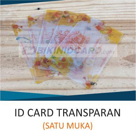 ID CARD TRANSPARAN