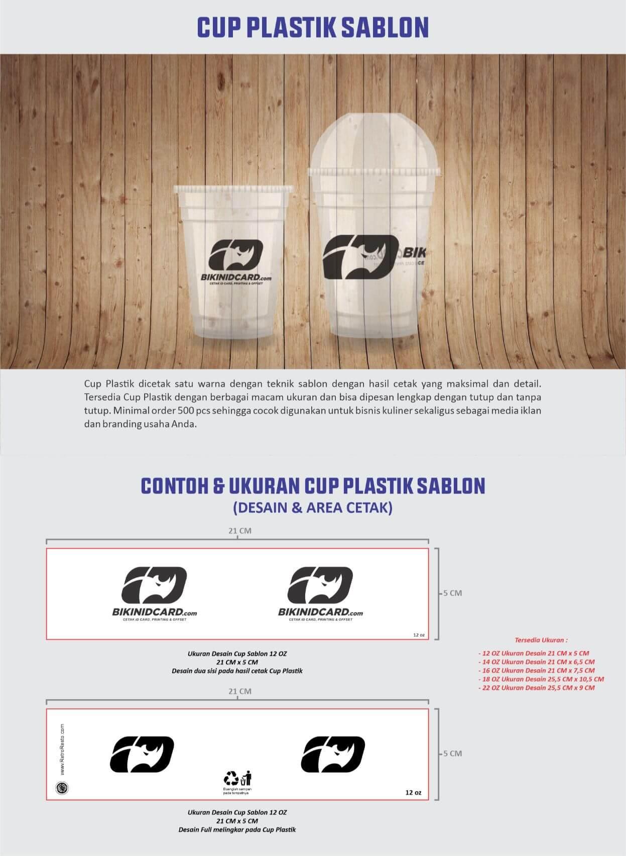 area desain cup plastik