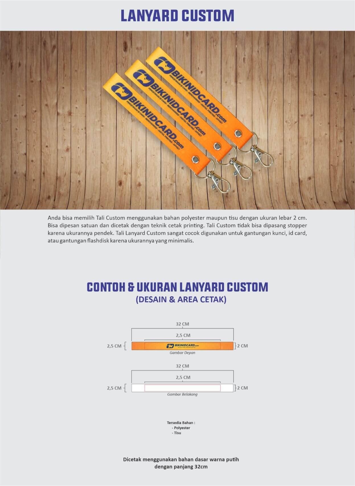 area desain lanyard custom