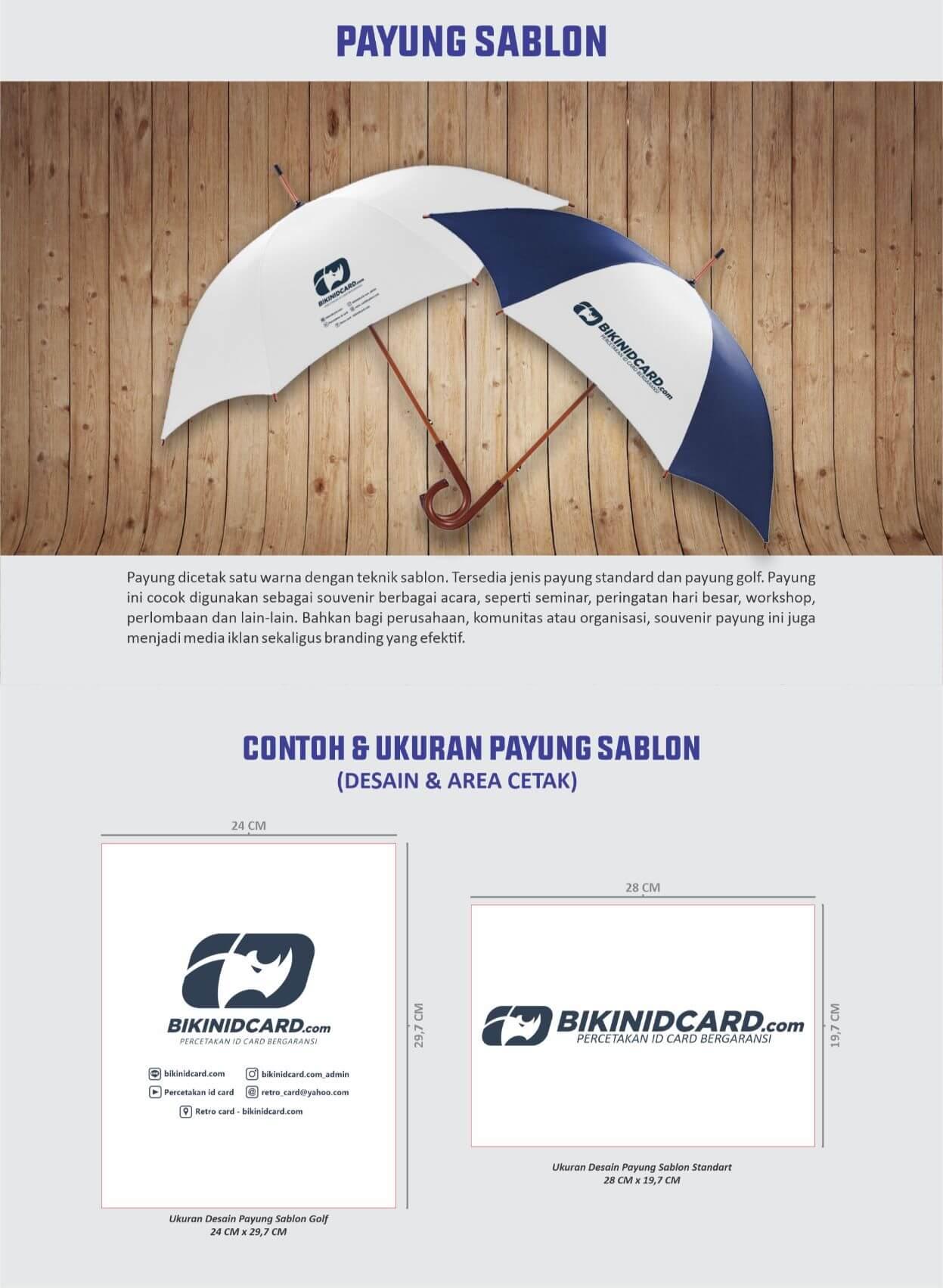 area desain payung sablon