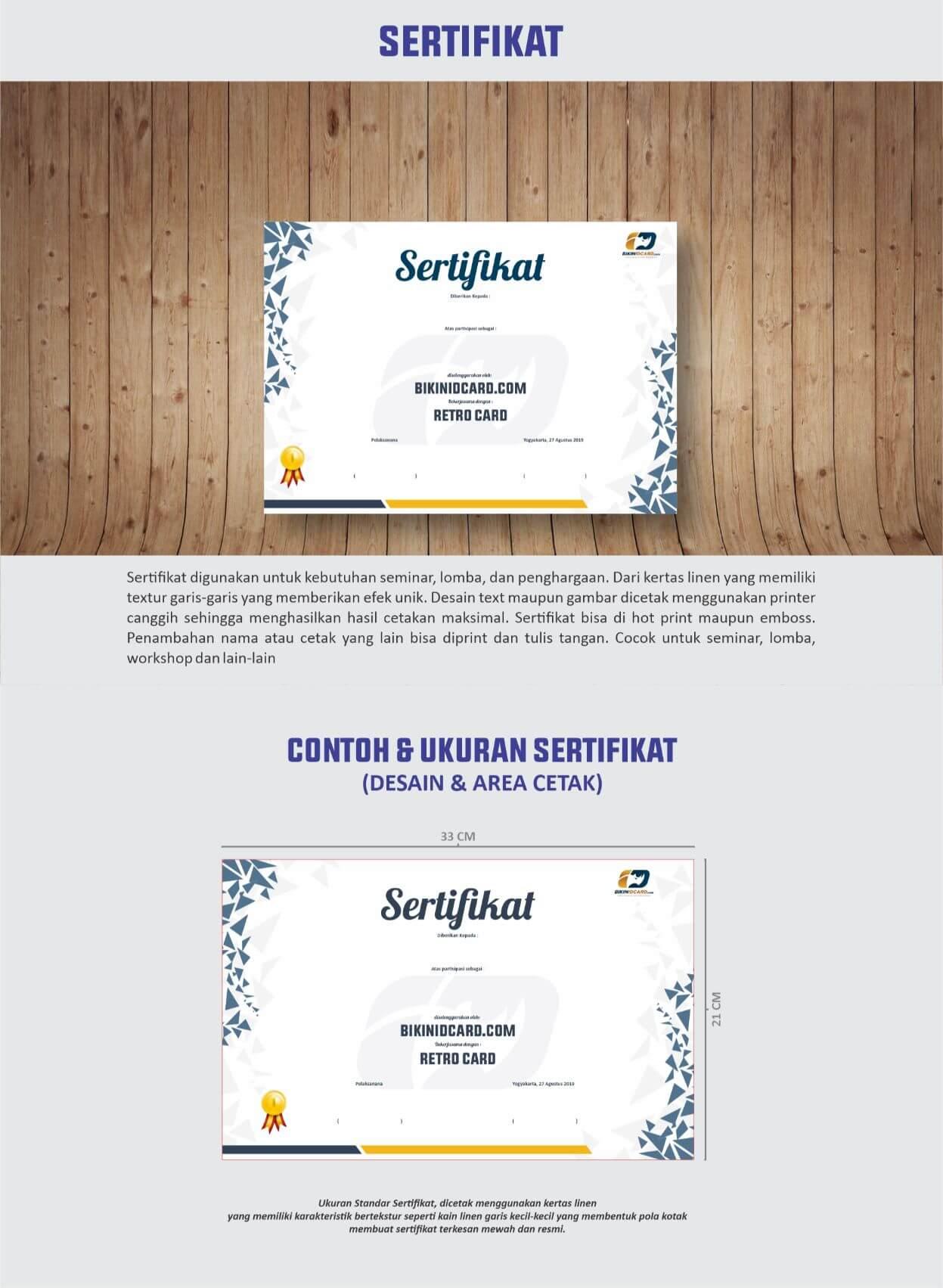 area desain sertifikat