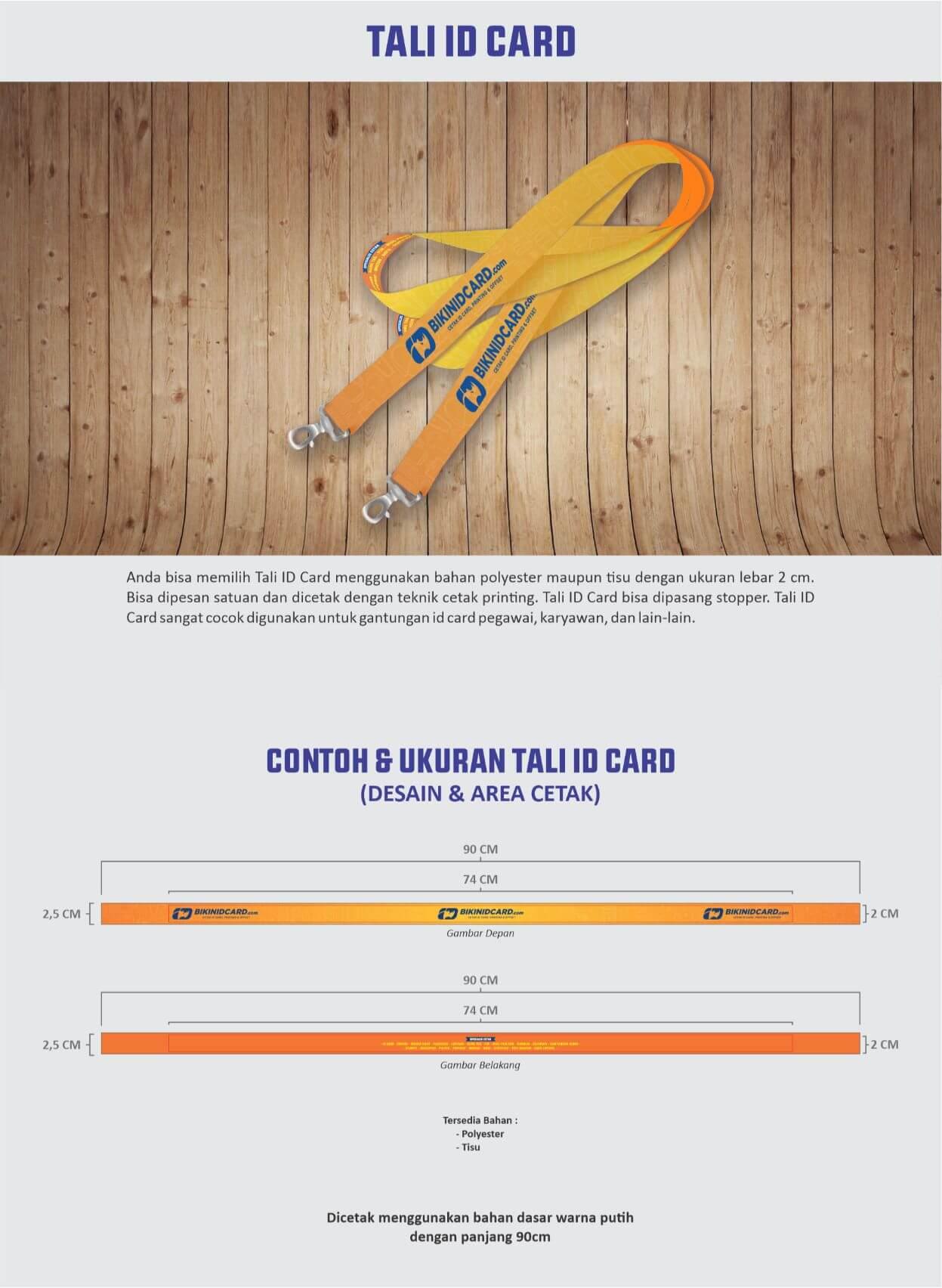 area desain tali id card