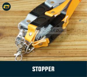 stopper tali id card