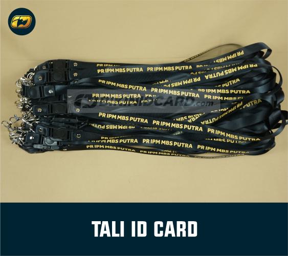 Bikin Tali Gantungan ID Card Karyawan sablon