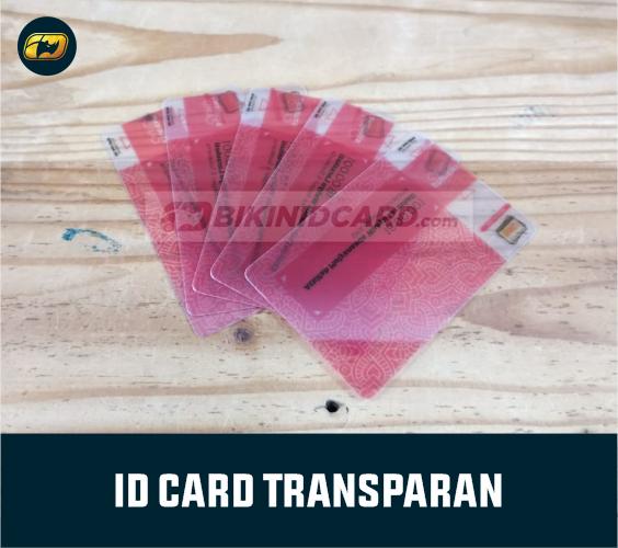 apa itu kartu nama transparan