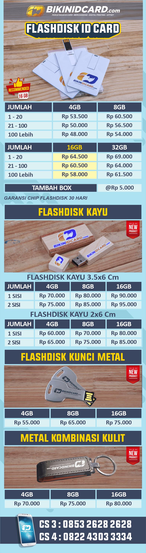 daftar harga flashdisk id card new