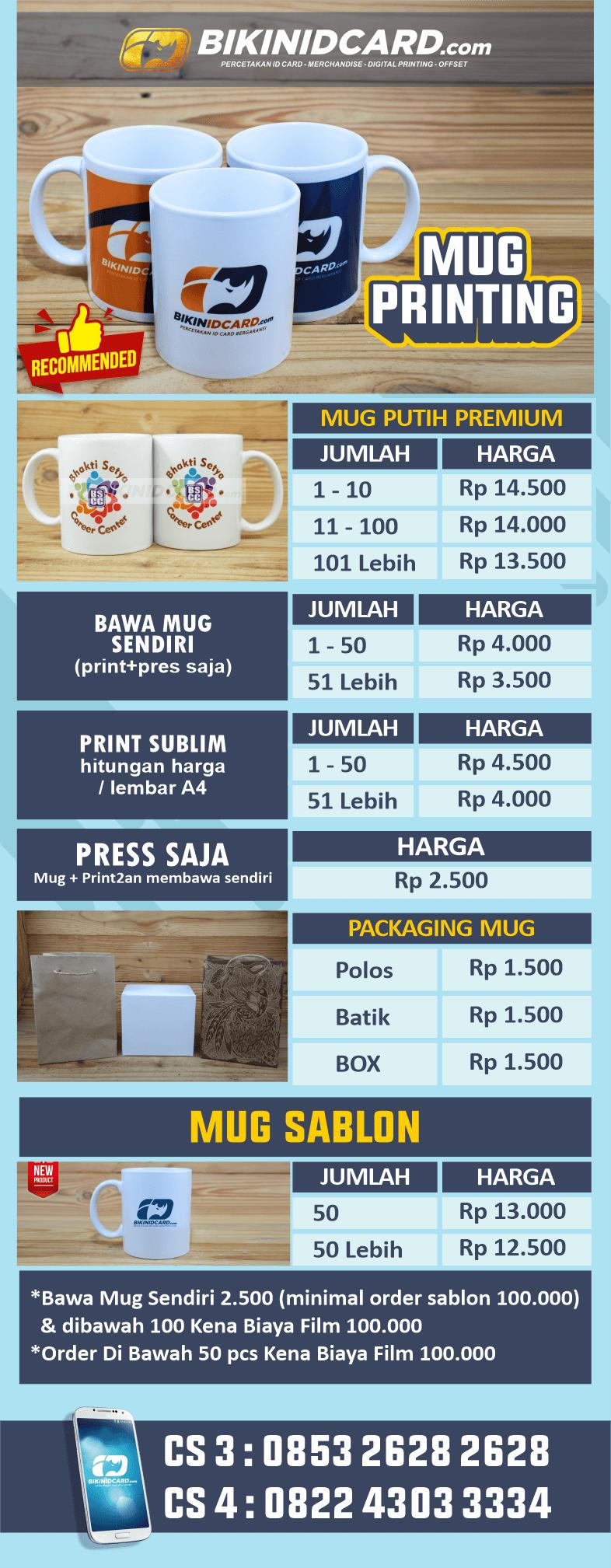 daftar harga mug new