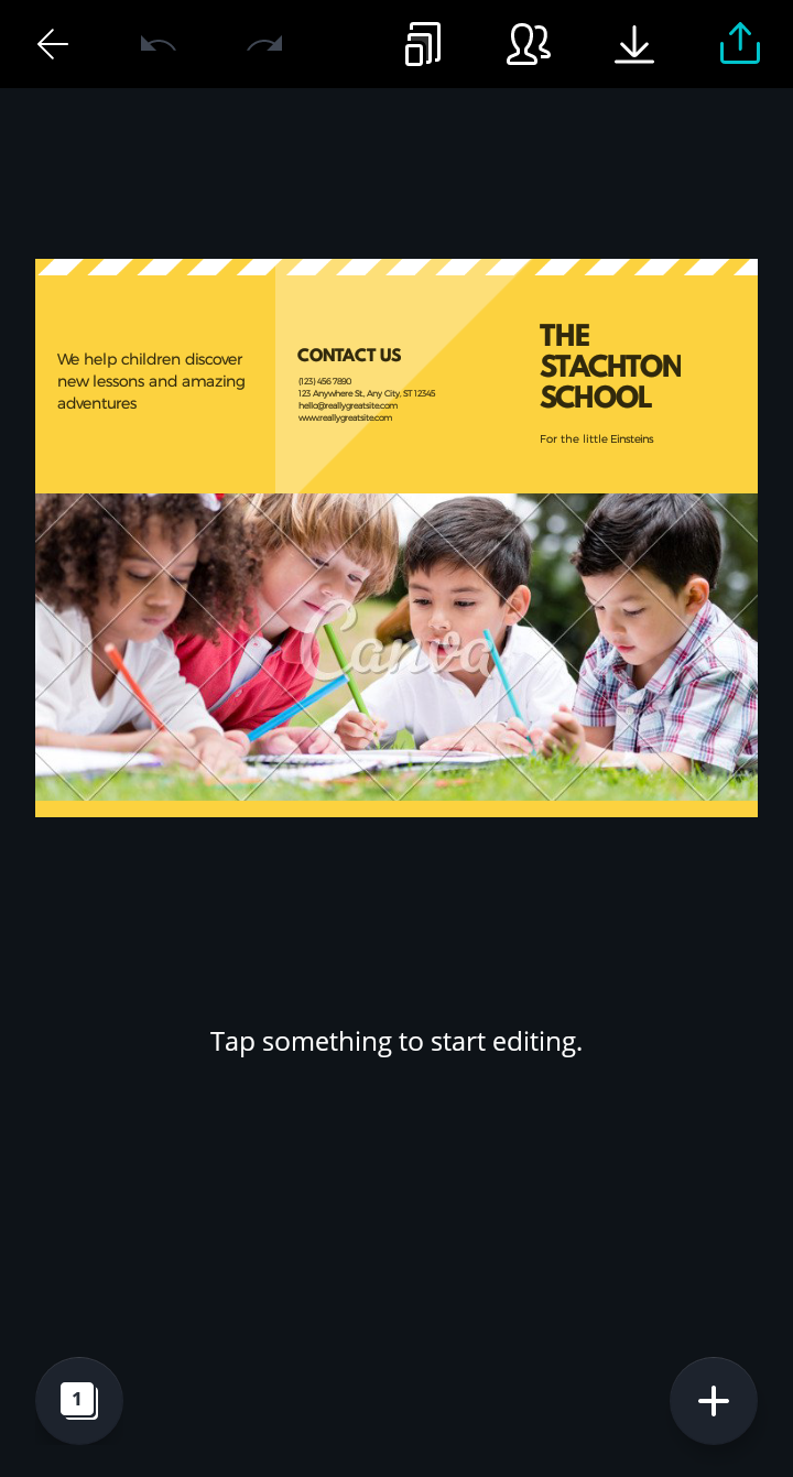 contoh brosur sekolah keren dan simpel