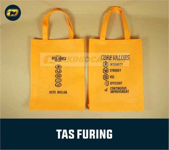 contoh tas dan detail kain furing