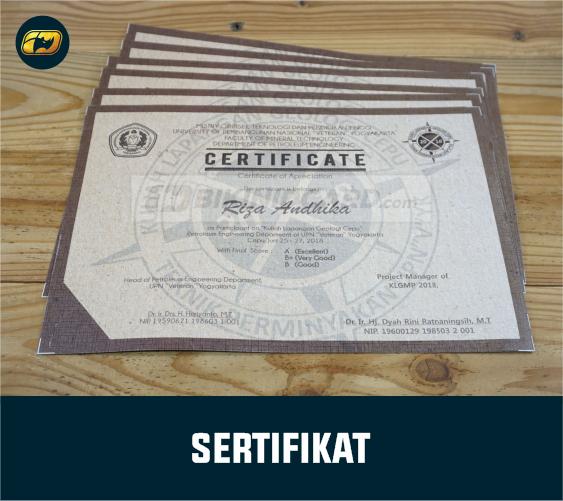 ukuran sertifikat