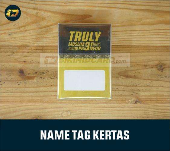 Name Tag ID Card Kertas