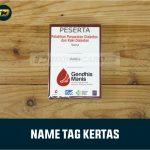 Name Tag Kertas