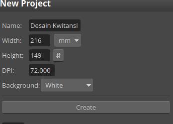 cara desain kwitansi 2