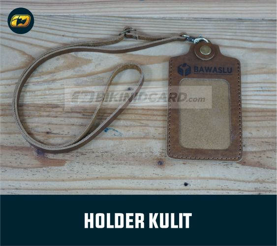 id card holder kulit asli