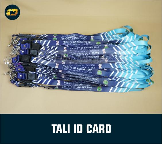 tali id card atau tali lanyard