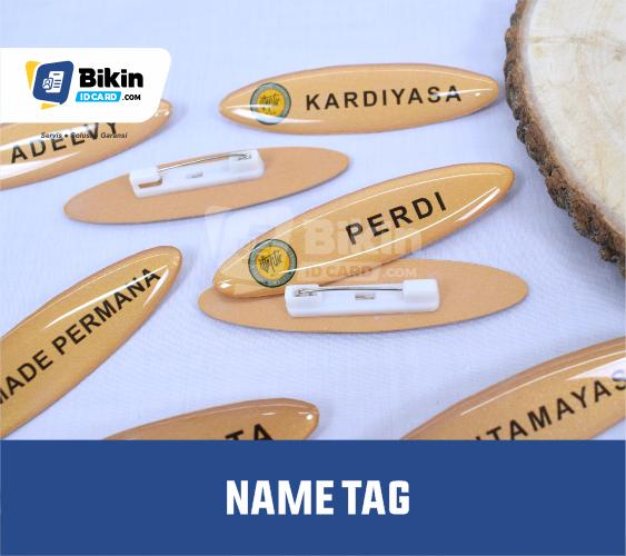 jenis name tag perusahaan