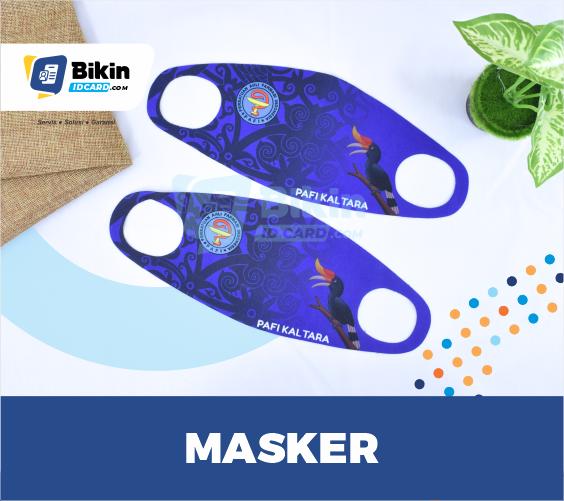 bikin masker scuba custom logo